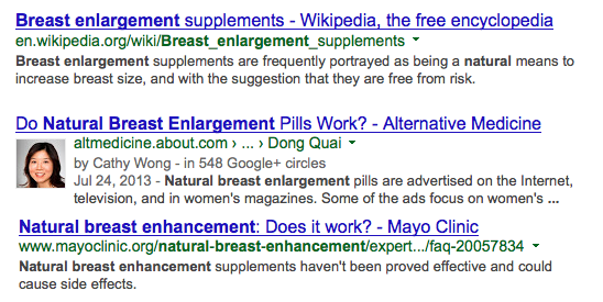 Google Search Herbal Breast Enhancement