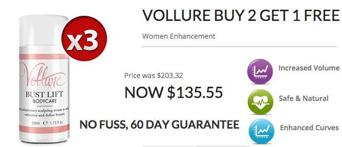 Vollure buy 2 get 3 banner
