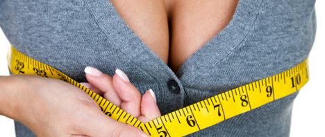 Woman Measuring Breasts