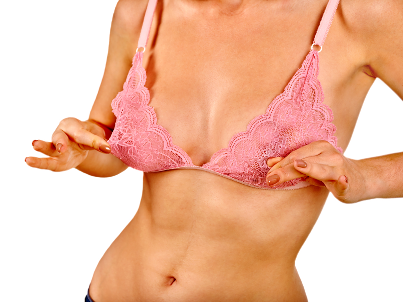 What Causes Sagging Breasts- Woman looking at Sagging Breasts